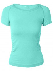 Candy Color Sport Running T-Shirt - LIGHT GREEN