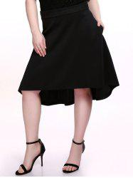 Plus Size Dovetail Skirt - BLACK