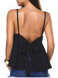 Bowknot Backless Slit Cami Top -