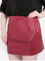 Mini Faux Leather Plus Size Skirt