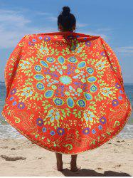 Circle Flower Pattern Beach Cape - JACINTH