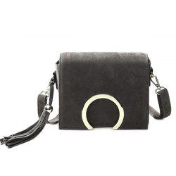 Retro Metal and Tassels Design Crossbody Bag For Women