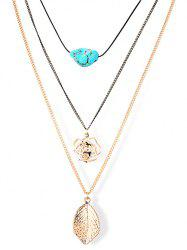 Charming Leaf Floral Sweater Chains - GOLDEN