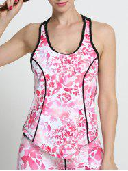 Floral U Neck Racerback Running Tank Top