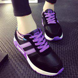 Fashion Splicing and Lace-Up Design Athletic Shoes For Women