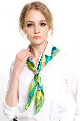 Hit Color Print Scarf