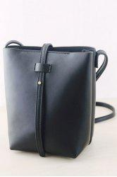 Strap Black Crossbody Bag