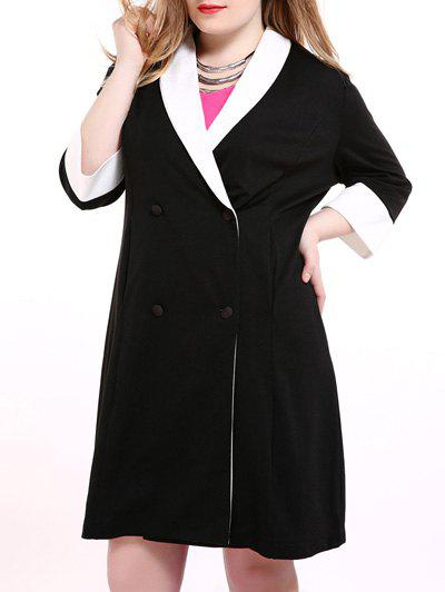 Outfit Plus Size Shawl Collar Double Breasted Coat