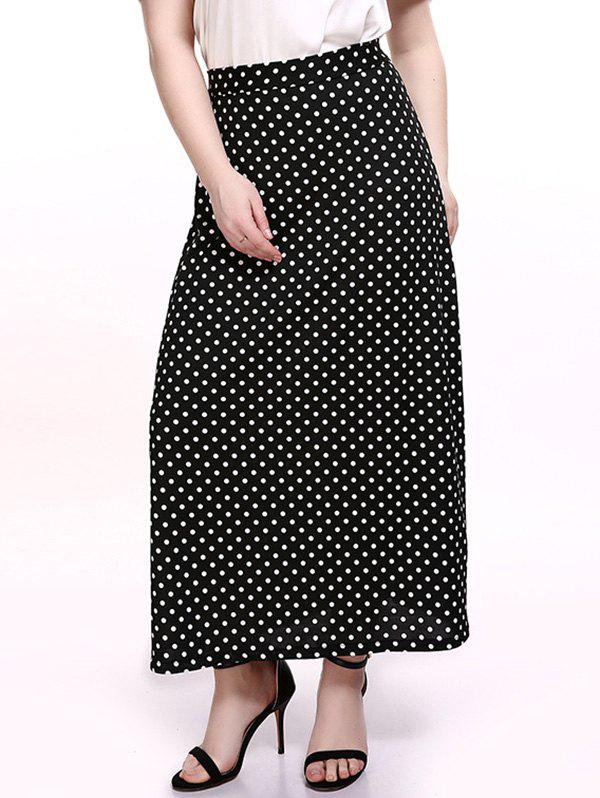 15a9fd4d4 17% OFF] Plus Size Polka Dot Maxi Skirt | Rosegal