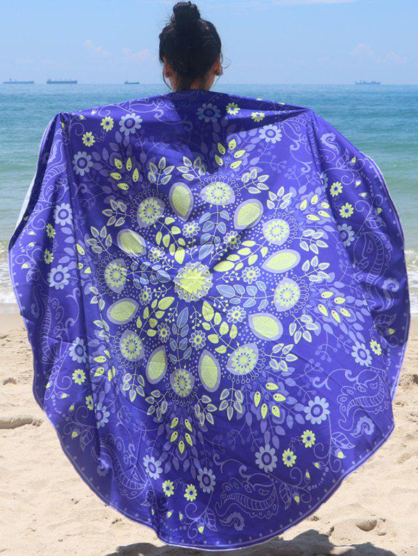 Trendy Plant Print Sun-Resistant Beach Cover Up