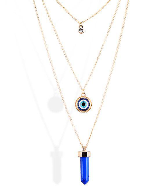 Outfit Rhinestone Bullet Eye Pendant Sweater Chains