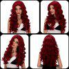 Vogue Long Loose Curly Wine Red Synthetic Capless Cosplay Wig For Women -