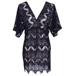 Alluring Laciness Hollow Out Dress For Women