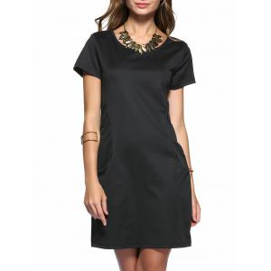 Short Sleeve Casual Dress With Pockets