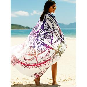 Printed Sun Resistant Beach Sarong Cover Up