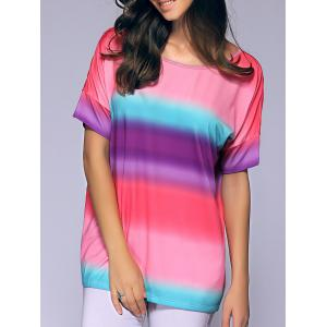 Short Sleeves Round Collar Tie-Dyed T-Shirt