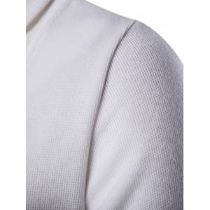 Button Up Shawl Collar Long Sleeve Cardigan - WHITE 2XL