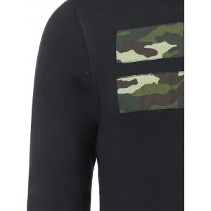 Camo Star Patch Pullover Sweatshirt For Men -
