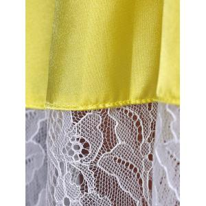 Stylish High Waisted Lace Splicing Cami Dress  For Women -