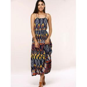 Ethnic Style Tribal Pattern Maxi Dress -