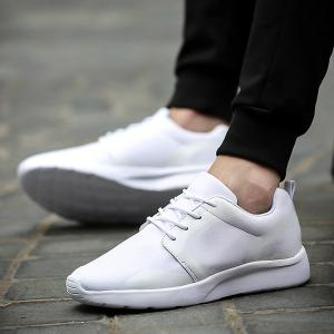 Stylish Solid Colour and Tie Up Design Athletic Shoes For Men -