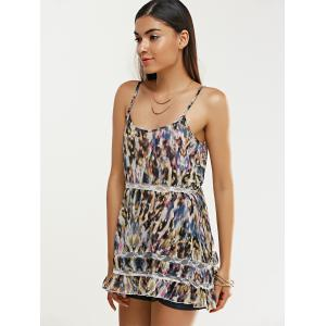 Stylish Women's Tie-Dyed Ruffled Dress -