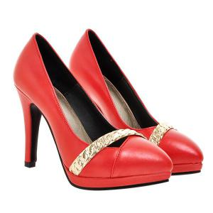 Trendy Stiletto Heel and Metal Design Pumps For Women -
