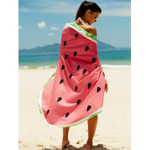 Watermelon Pattern Sun Resistant Cover Up -