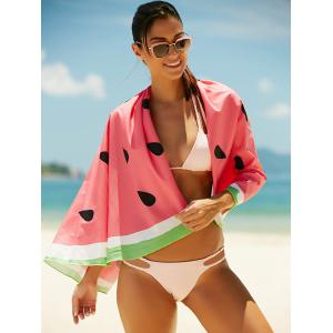 Watermelon Pattern Sun Resistant Cover Up - WATERMELON RED ONE SIZE