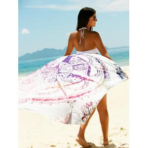 Printed Sun Resistant Beach Sarong Cover Up - COLORMIX ONE SIZE