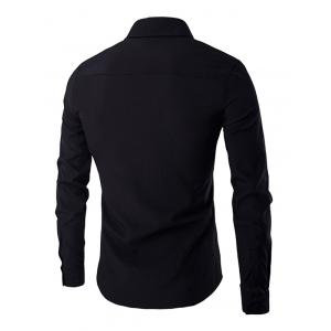 Simple Star Embroidered Long Sleeves Shirt For Men -