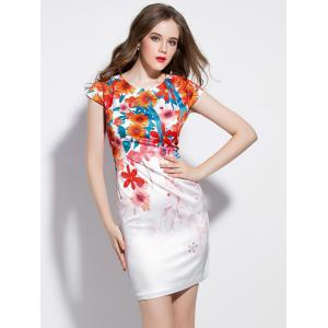 Mini Floral Bodycon Dress -