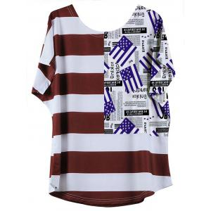Casual Flag Pattern Striped Women's T-Shirt -