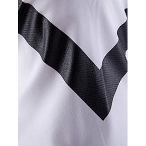 Triangle Pattern Turn-down Collar Long Sleeves Shirt For Men -