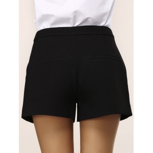 Chic Pocket Design Note Embroidery Women's Shorts -
