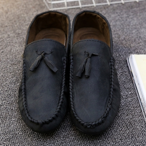Simple Style Coutures et Glands conception Souliers simple d'homme - Noir 43