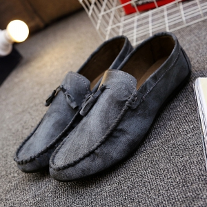Simple Style Stitching and Tassels Design Casual Shoes For Men - GRAY 44
