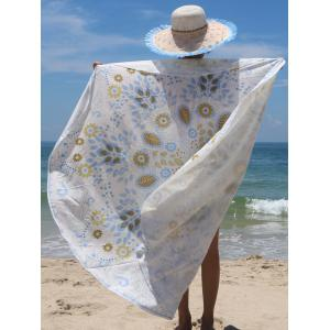 Ethnic Leaves and Floral Print Women's Beach Throw -