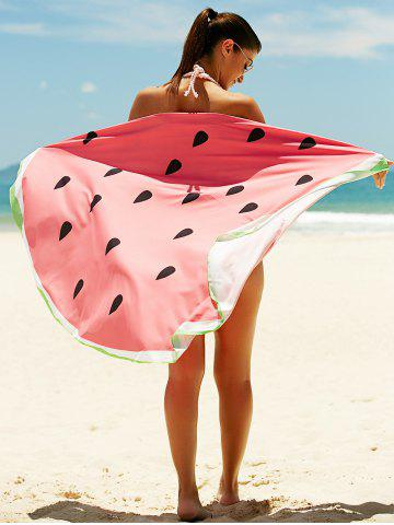 Sale Watermelon Pattern Sun Resistant Cover Up WATERMELON RED ONE SIZE