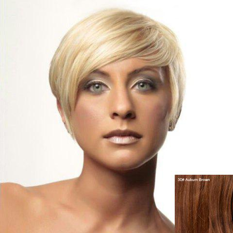 Outfit Prevailing Women's Short Side Bang Human Hair Wig