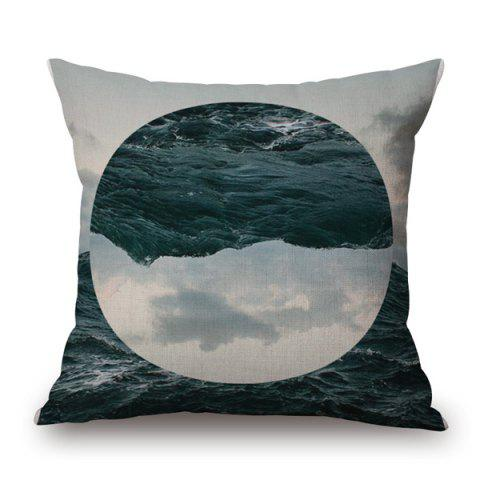 Trendy Stylish Nature Landscape Sea Sky Jigsaw Oval Pattern sofa Pillow Case