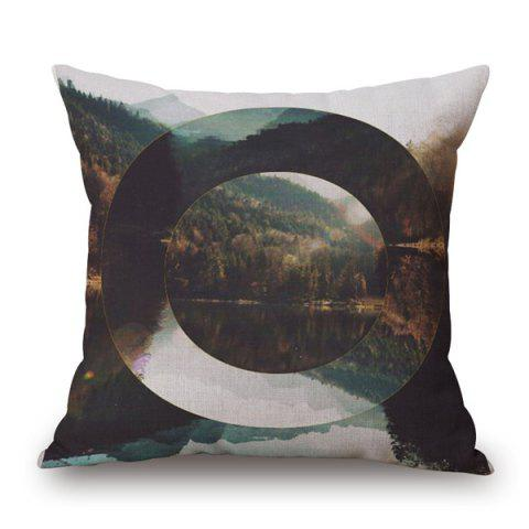 Shop Pretty Nature Landscape Hollowed Oval Jigsaw Pattern sofa Pillow Case