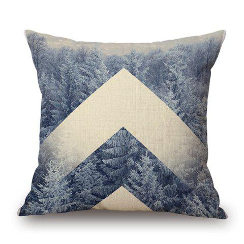 Unique Fashionable Nature Forest Snow Winter Design sofa Pillow Case