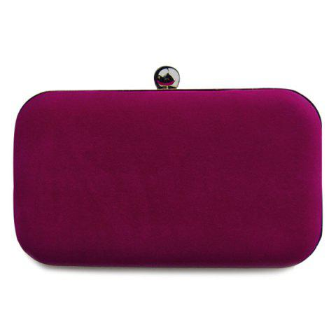 Sale Graceful Solid Color and Metal Design Evening Bag For Women