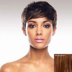 Virile Women's Short Fluffy Full Bang Human Hair Wig -