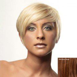 Prevailing Women's Short Side Bang Human Hair Wig -