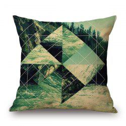 Graceful Visual Landscape River Tree Geometry Design sofa Pillow Case -