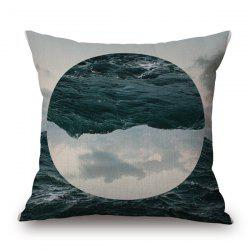 Stylish Nature Landscape Sea Sky Jigsaw Oval Pattern sofa Pillow Case -