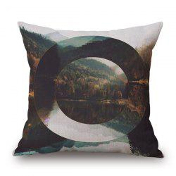 Pretty Nature Landscape Hollowed Oval Jigsaw Pattern sofa Pillow Case -