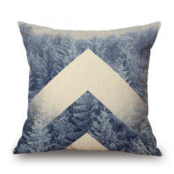 Fashionable Nature Forest Snow Winter Design sofa Pillow Case -